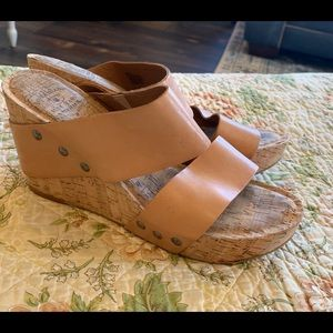Lucky Brand wedge sandals size 8